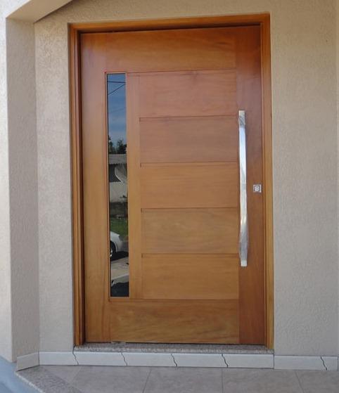 Porta Pivotante com Vidro Embutido